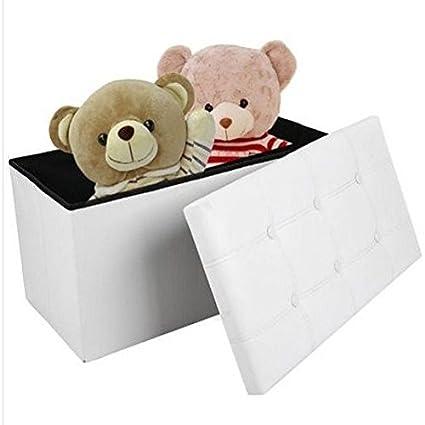 Gran caja de juguetes para niños color blanco banco de ...