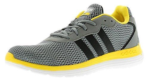 90caa5b4 Hombre/Hombre Gris ADIDAS Neo Cloudfoam Speed Zapatillas - Gris/Amarillo -  GB Tallas 6-9.5: Amazon.es: Zapatos y complementos