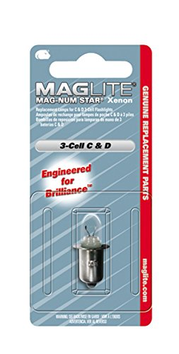 Maglite Mag-Num Star Xenon C-Cell or D-Cell Flashlight Replacement Bulb Flavor: For 5 D-Cell Maglite