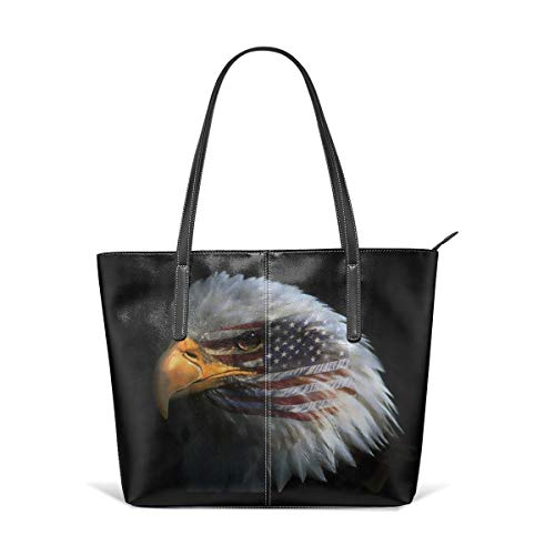 - King Dare American Eagle Women Fashion Handbags Tote Bag Shoulder Bag Top Handle Satchel - Microfiber PU Leather