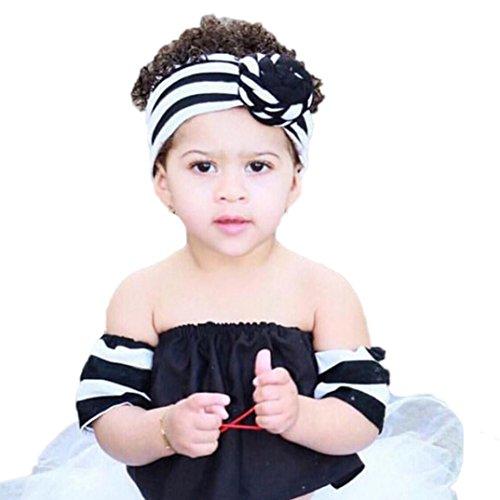Highpot Beautiful Knot Headband Baby Stripe Headbands Girl Elastic Headdress - Knot Mirror