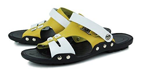 TDA , Herren hinten offen , gelb - Gelb/Weiß - Größe: 43