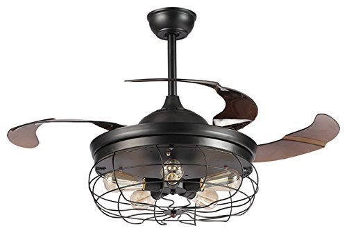 Parrot uncle ceiling fans with lights 42 vintage farmhouse fan industrial chandelier fans with