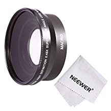 Neewer® 67MM 0.45x Professional HD Wide Angle Lens (w/ Macro Portion) for CANON EOS 70D 60D 7D 6D EOS 700D 650D 600D 550D/T5i T4i T3i T3 T2i DSLR Cameras + Microfiber Cleaning Cloth