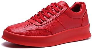 LOVDRAM Chaussures en Cuir pour Hommes Augmentation Décontractée Wild Super Fibre en Cuir Chaussures Chaudes Et Respirantes Étudiantes Chaussures Blanches Chaussures pour Hommes LOVDM