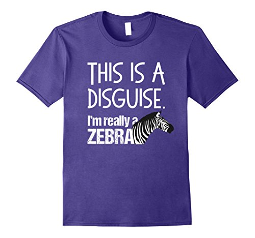 Mens Disguise Costume Shirt Zebra Funny Quote for Halloween 2XL Purple
