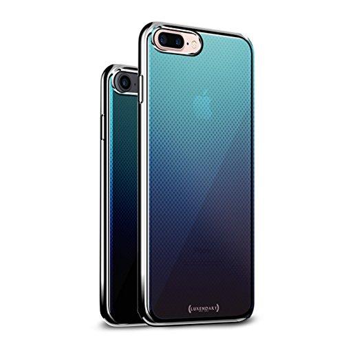 Translucent Gradient DOTS | Luxendary Chrome Series Designer case for iPhone 8/7 Plus in Silver Trim -