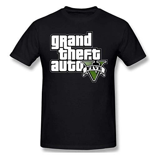 TilliessLeve Mens GTA V Grand Theft Auto Five Logo Tee Trend T-Shirt,Black,XXL