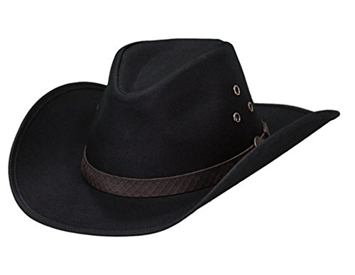 Oilskin Lightweight - Outback Trading Co Men's Co. Oilskin Trapper Hat Black Large