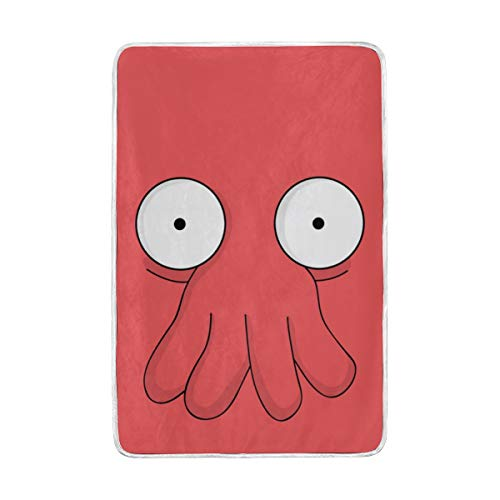 hengpai Futurama Doctor Zoidberg Print Kids Blanket Soft Bed Couch Sofa Throw 60x90 in for Women Kids -