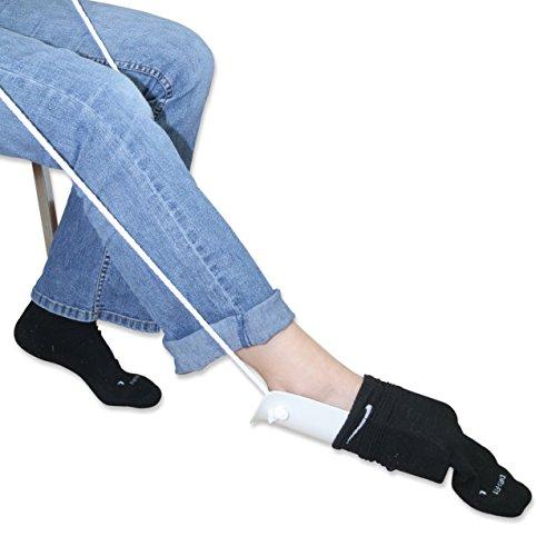 Rehabilitation Advantage Economy 4 Piece Hip/Knee/Back Replacement Kit – Sock Aid, Reacher, Shoehorn, Sponge by Rehabilitation Advantage (Image #6)