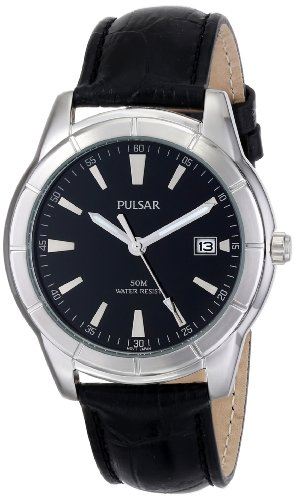 (Pulsar Men's PXH839X Analog Display Japanese Quartz Black Watch)