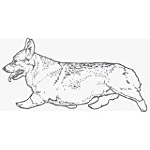 "Dog Rubber Stamp - Welsh Corgi Pembroke-4E (Size: 2-1/4"" Wide X 1"" Tall)"
