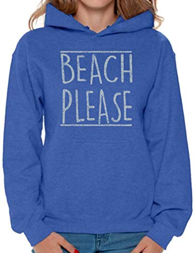 Awkward Styles Women's Beach Please Hoodie Gray Gym Hooded Sweatshirt L ()