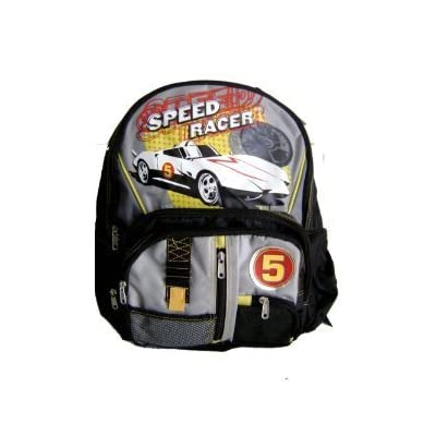 high-quality Speed Racer Backpack Large Padded Black/Grey