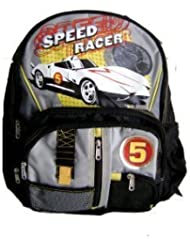 Speed Racer Backpack Large Padded Black/Grey