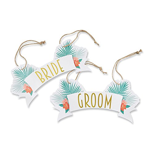 Tropical Chairs - Kate Aspen Tropical Chic Bride and Groom Chair Signs
