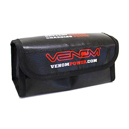 - Small Venom Fire Resistant Lipo Bag Pouch with Glass Fiber and High Thermal Protective Coating LiPo Case for Storage and Charging