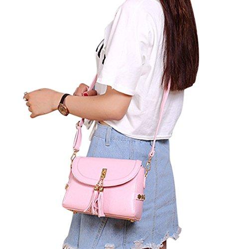Zantec Damenmode Metall Anhänger Clutch Bag Hochzeit Handtasche Rosa