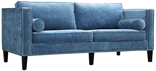 Tov Furniture Cooper Velvet Sofa - Dimensions: 83.1W x 37.4D x 32.1H in. Durable kiln-dried hardwood frame Velvet upholstery in your choice of available colors - sofas-couches, living-room-furniture, living-room - 41J11TO0FdL -