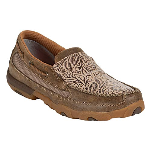 Twisted X Nude Embossed Slip on Moccasin