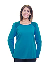 Womens Long Sleeve Adaptive Top - Wheelchair Clothing - Fashionable and