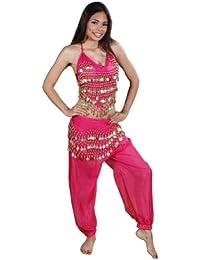 BellyDancing Halloween Costume Set   Harem Pants, Top & Hip Scarf   The Belly Dancer
