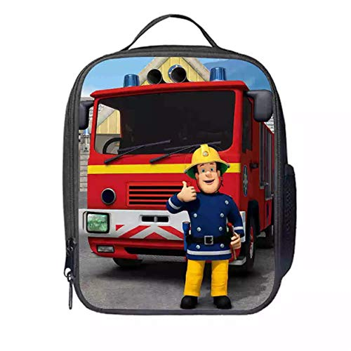Fireman Lunch - XCO-LEE Fireman Sam Insulated Lunch Bag-Kids Waterproof Lunchbox Bag for School,Travel
