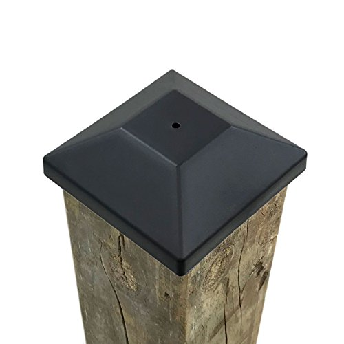 (54 Pack) New Wood Fence Post Black Caps 4X4 (3 5/8'') Pressure Treated Wood Made In USA (54) by MTL