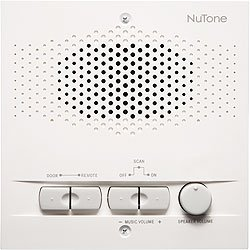 NuTone Intercom System NRS200WH Room Station 6-Wire White -