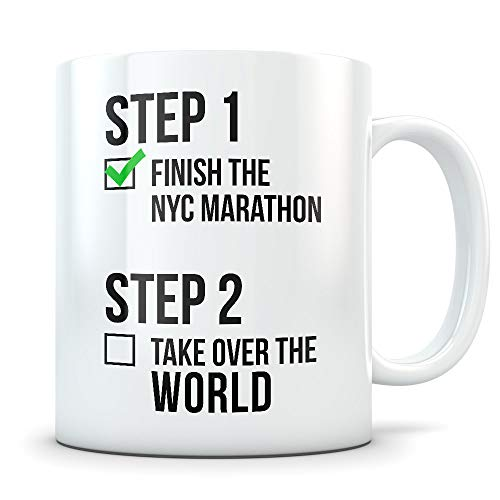 NYC marathon gifts for women and men, New York City marathon mug, NYC marathon runner gifts, marathoner ()