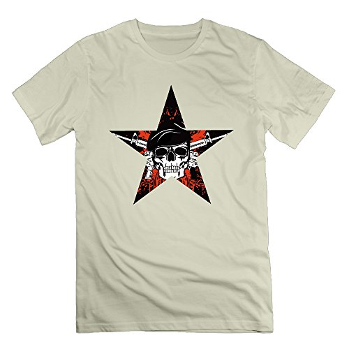 FONY Men's Skull in Beret with The Crossed Rifles Short Cool Dry Tshirts