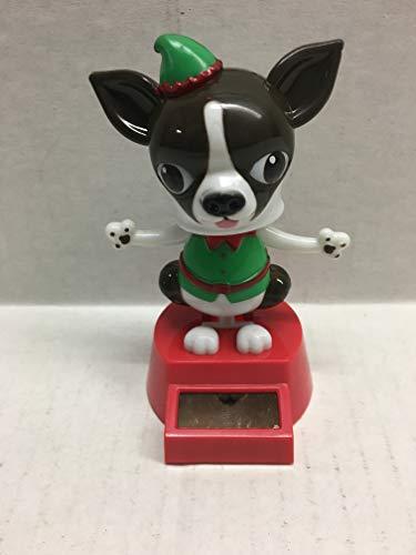 Christmas Elf Dark Brown Chihuahua Solar Dancer