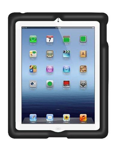 BobjGear Bobj Rugged Case for iPad 4, iPad 3, iPad 2 (not for iPad Air) Custom Fit - Patented Venting - Sound Amplification - BobjBounces Kid Friendly - Bold Black