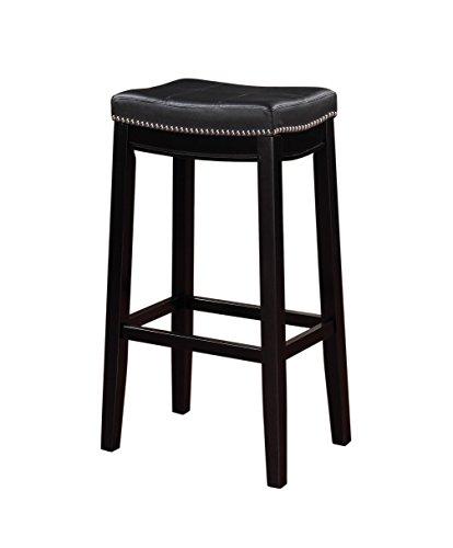 - Linon 55816BLK01U Claridge Bar, Black Stool 32