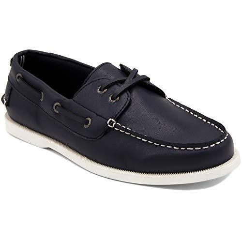 - Nautica Men's Nueltin Casual Boat Shoe Loafer 2 Eye Lace Moccasins-NUELTIN-Navy-10