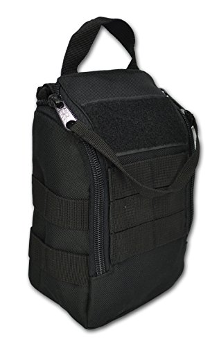 Lightning X Premium Drop Front Military MOLLE IFAK Tactical Medical Pouch - BLACK