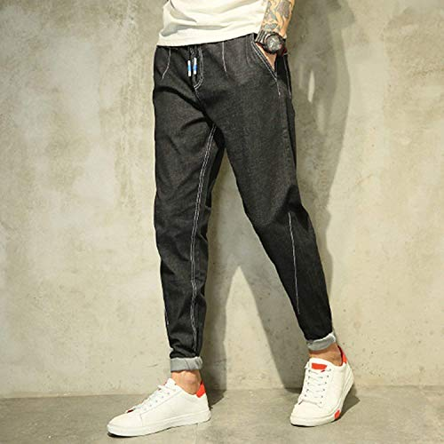 Nero Hren Uomo Regalar Especial In Da Usedlook Pantaloni R Leisure Retrò Estilo Jeans Black Denim Fit Blue Stretch Moda z4RwU