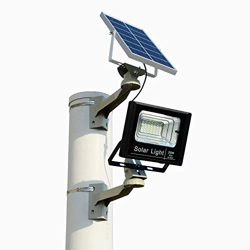 Outdoor Solar Light Waterproof IP67 BRLighting LED Flood Light with Smart Remote Solar Power Spotlight for Home Garden Yard Lawn Pool Light Review