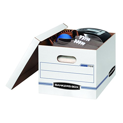 Large Product Image of Bankers Box STOR/FILE Storage Boxes, Standard Set-Up, Lift-Off Lid, Letter/Legal, Case of 12 (00703)