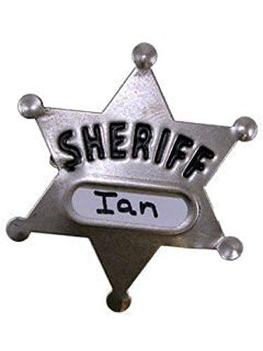 Insignia grande del sheriff del metal de la novedad del siglo