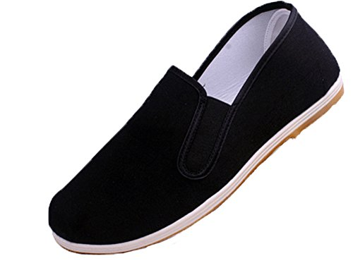 AvaCostume Old Beijing Martial Art Kung Fu Tai Chi Slip-On Shoes, Yellowsole, 43