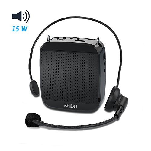 15W Voice Amplifier, Acekool Portable Rechargeable Voice Amplifier Waist Support, with MP3 Player & U Disk for Teachers, Tour Guiders, Speakers 【Loud Voice+】【Long Battery+】