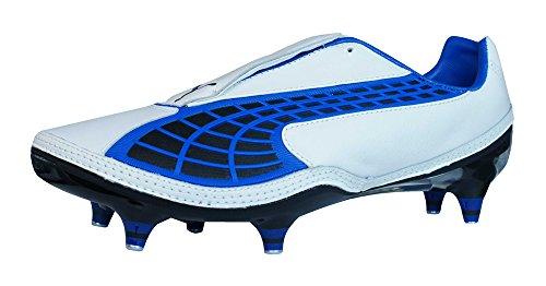 温かいくつろぎ犬Puma V1.10 K SG Mens Leather Soccer Boots / Cleats - White [並行輸入品]