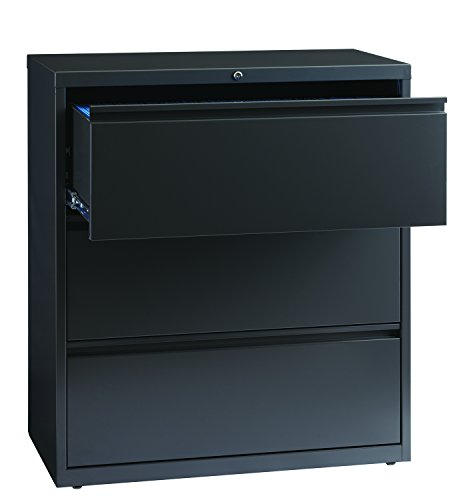 Office Dimensions Commercial 3-Drawer Lateral File with Full Width Pull, 36-Inch Wide - Charcoal Gray (Lateral File Cabinet Dimensions)