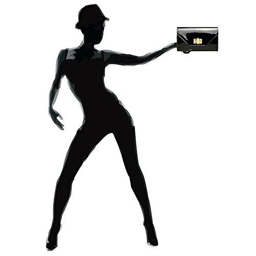 Sac de Noir pour XL stylée TA421 soirée soirée femme de métallique Pochette CASPAR wFSqgaR