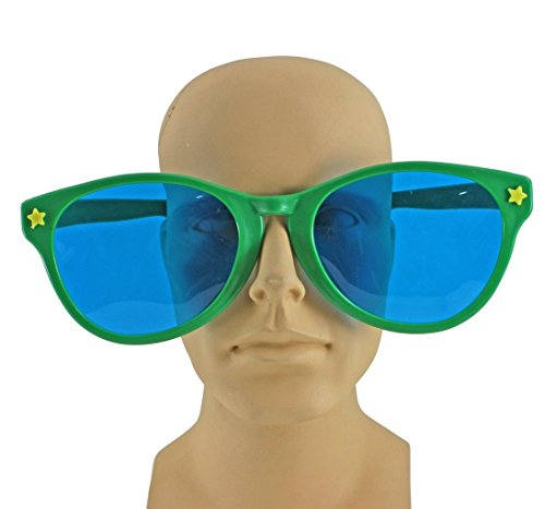 Funny Fashion Jumbo Giant Clown Novelty Sunglasses Glasses Plastic Novelty Costume Huge -