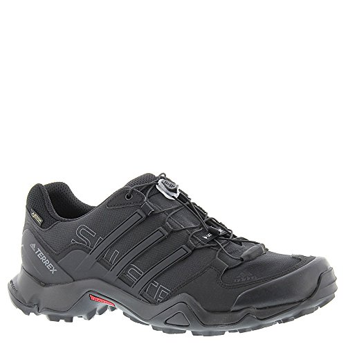 adidas outdoor Men's Terrex Swift R GTX Black/Black/Dark Grey Hiking Shoes - 8 D(M) US