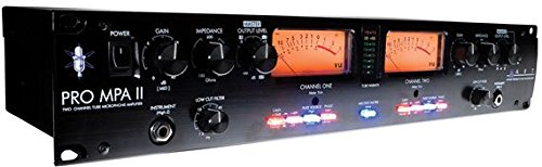 ART ProMPAII Two Channel Discrete Class A Microphone Preamp (Best Small Tube Amp For Recording)