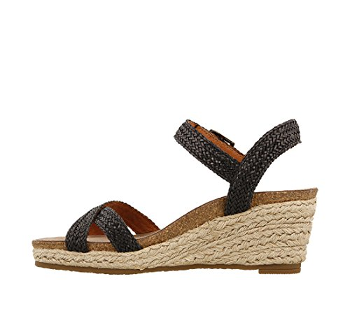 Women's Taos Footwear Sandal Hey Black Jute 8q054qw